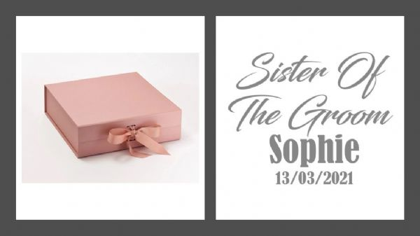 Sister of The Groom Large Luxury Personalised Gift Box